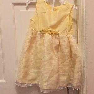 Yellow little girls dress